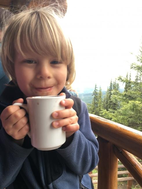 At Lake Louise Teahouse