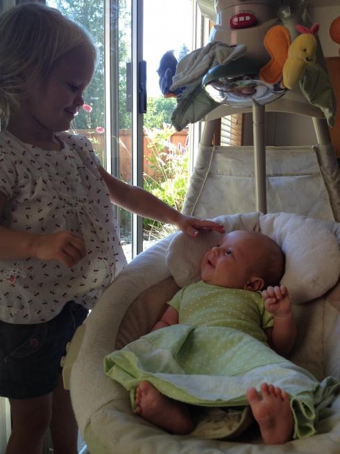 Adoring sister