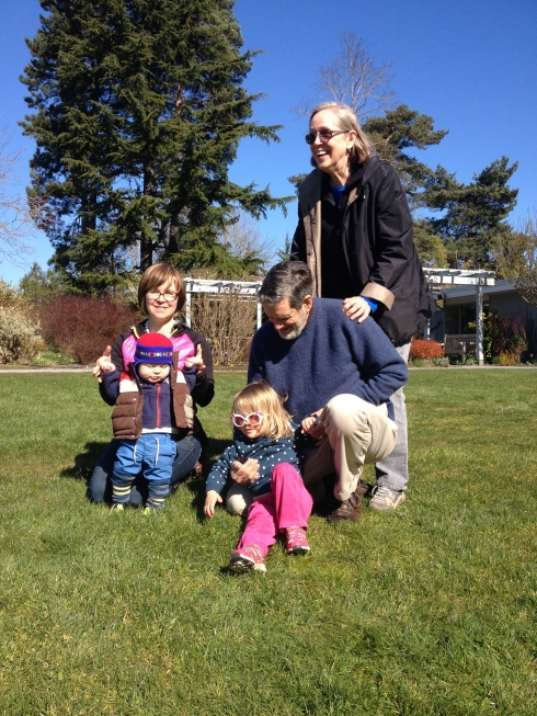 Mitchell Family in Bellevue Botanical Garden